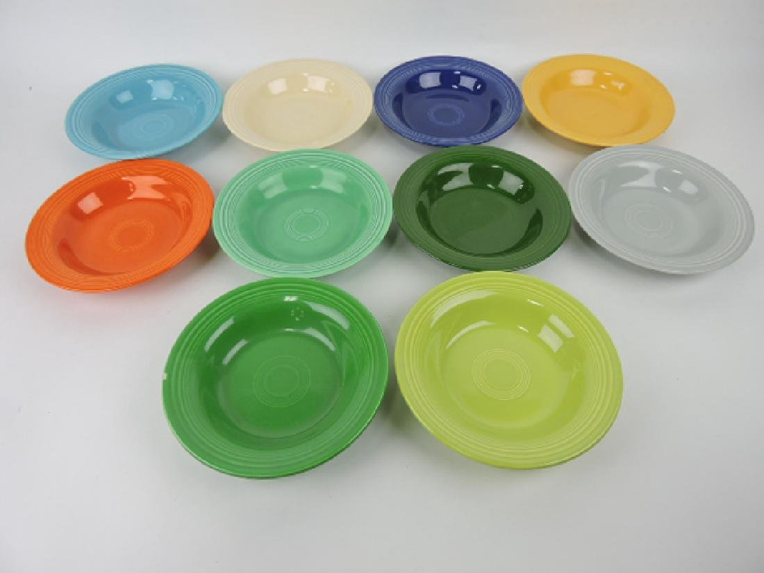 Fiesta deep plate group: 10 colors,