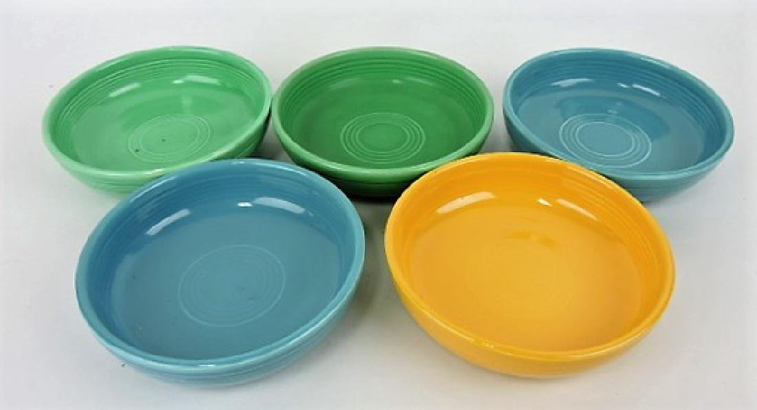 "Fiesta 6"" dessert bowl group, 5 mixed colors"