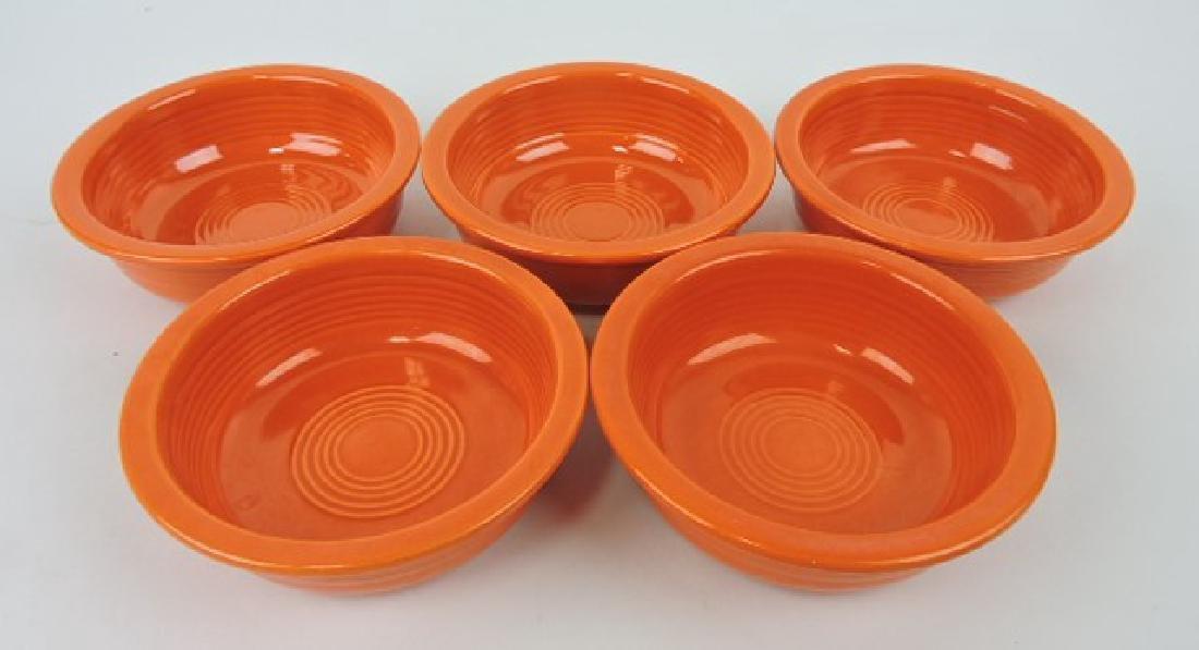 "Fiesta 5 1/2"" fruit bowl group, 5 red"