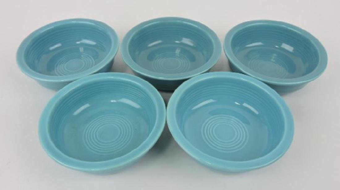 "Fiesta 5 1/2"" fruit bowl group, 5 turquoise"