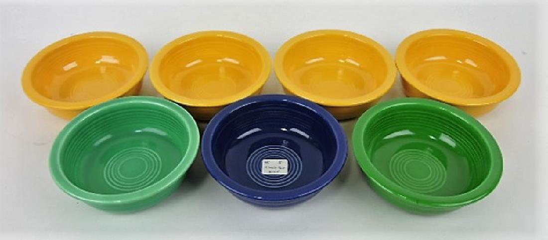 "Fiesta 5 1/2"" fruit bowl group, 7 mixed"