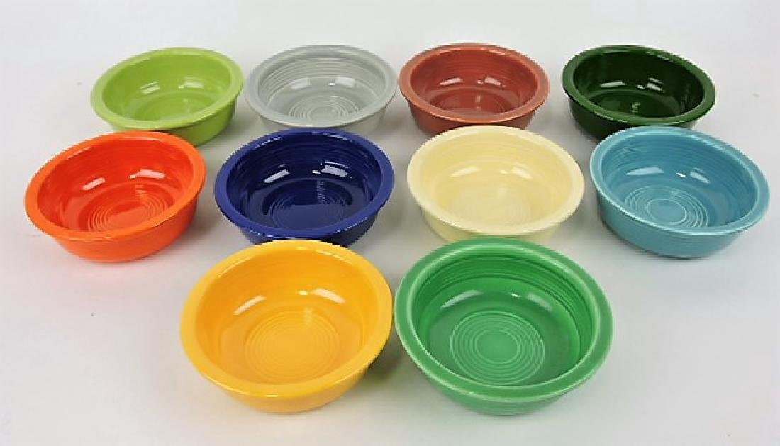 "Fiesta 4 3/4"" fruit bowl group, 10 different"