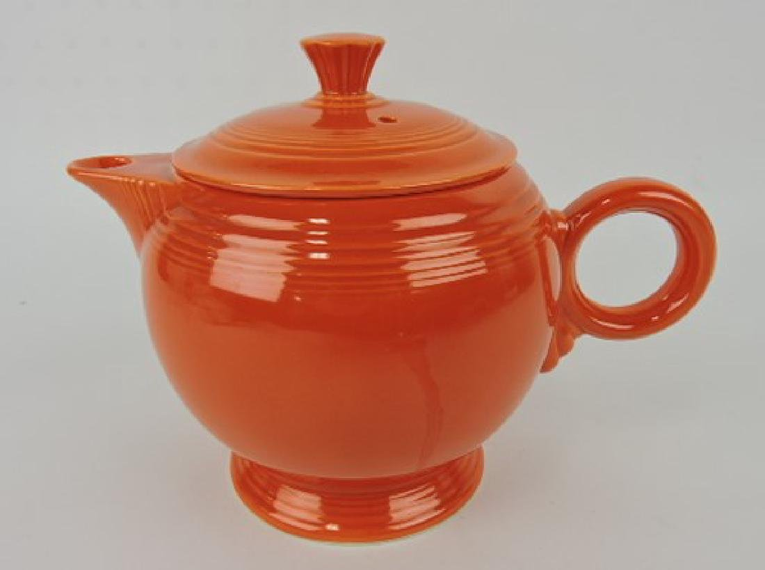 Fiesta large teapot, red