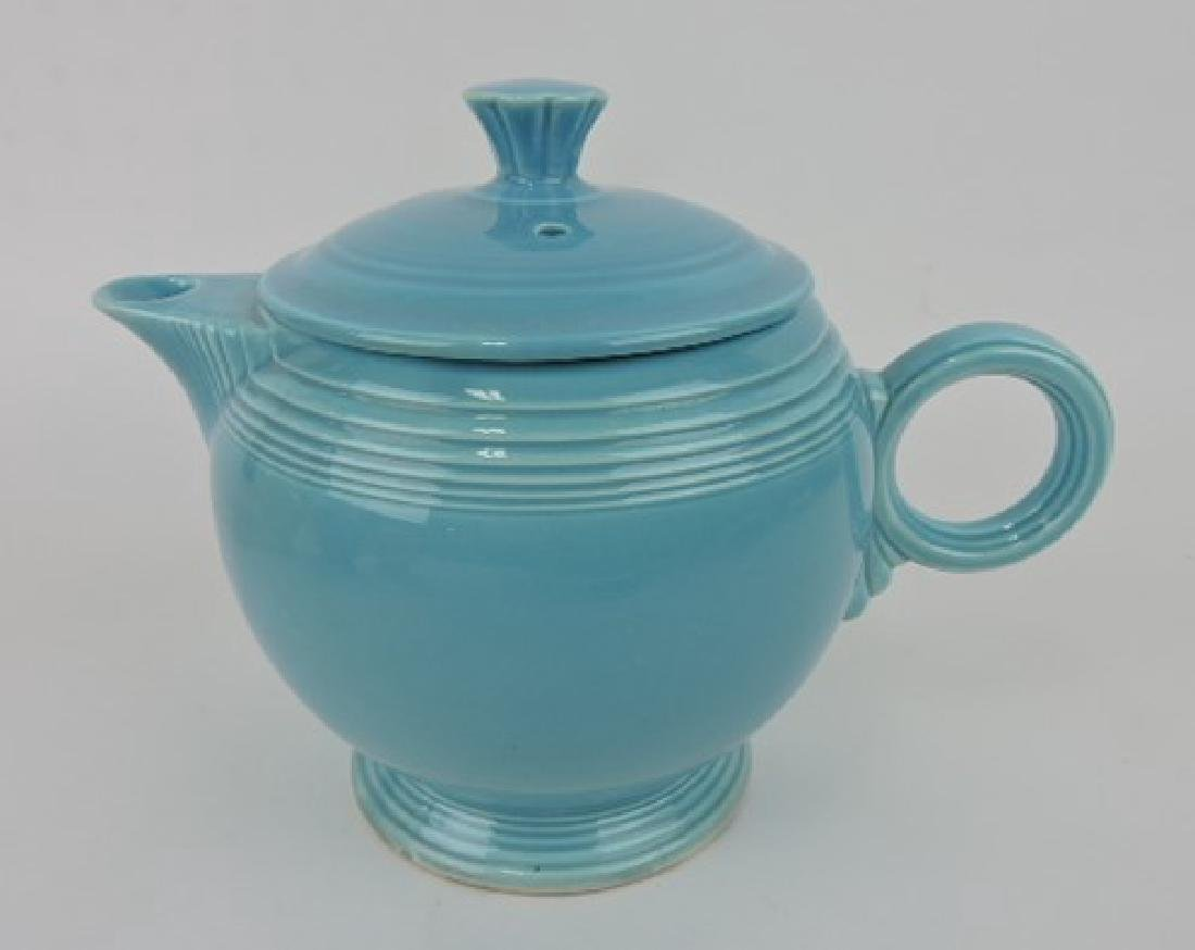 Fiesta large teapot, turquoise