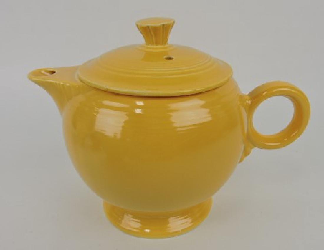Fiesta large teapot, yellow