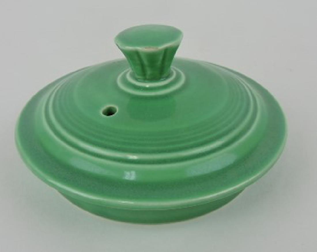 Fiesta large teapot lid, green, minor glaze