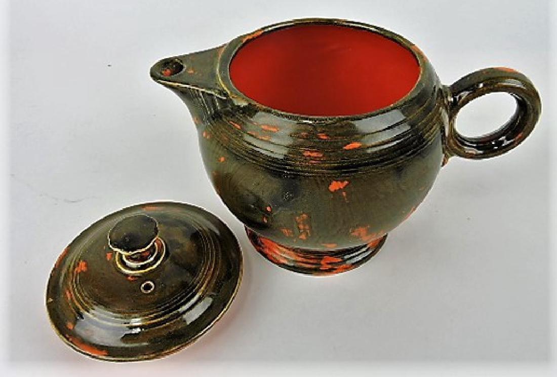 RARE Fiesta large teapot, rare mottled - 2