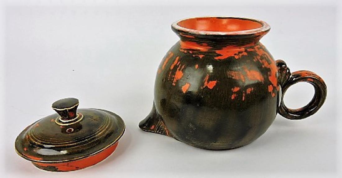 RARE Fiesta large teapot, rare mottled - 3