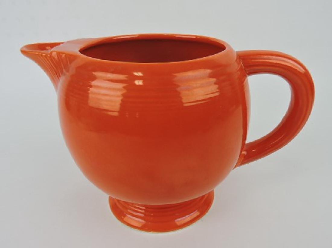 Fiesta ice lip pitcher, red