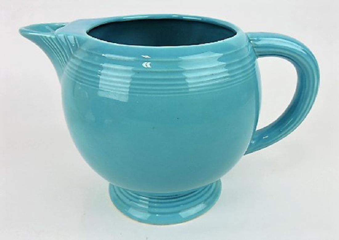 Fiesta ice lip pitcher, turquoise,