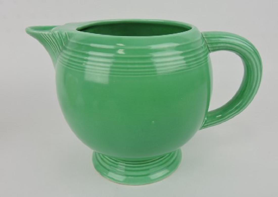 Fiesta ice lip pitcher, green
