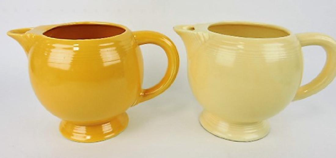 Fiesta ice lip pitcher group: ivory, yellow;