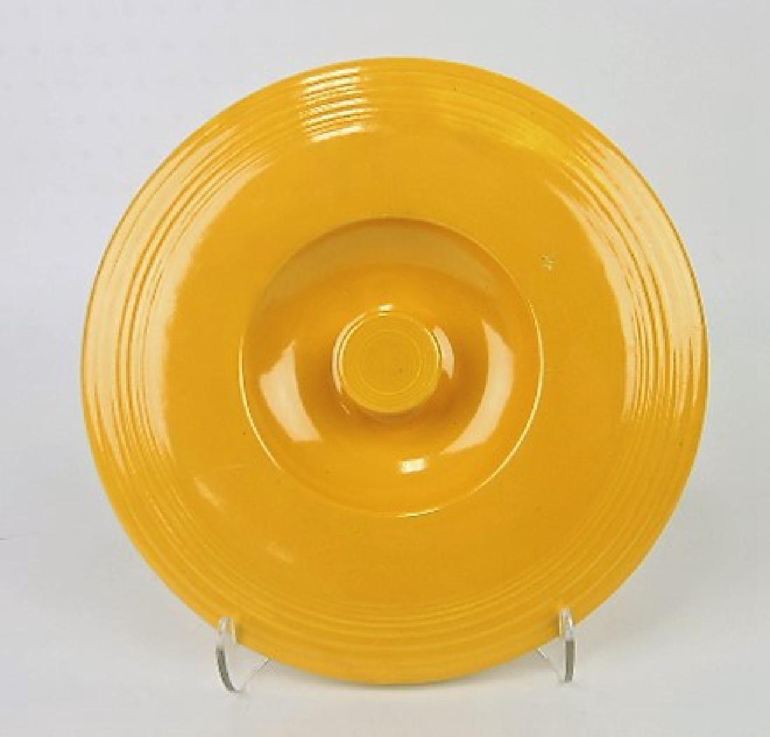 RARE Fiesta #5 mixing bowl lid, yellow,