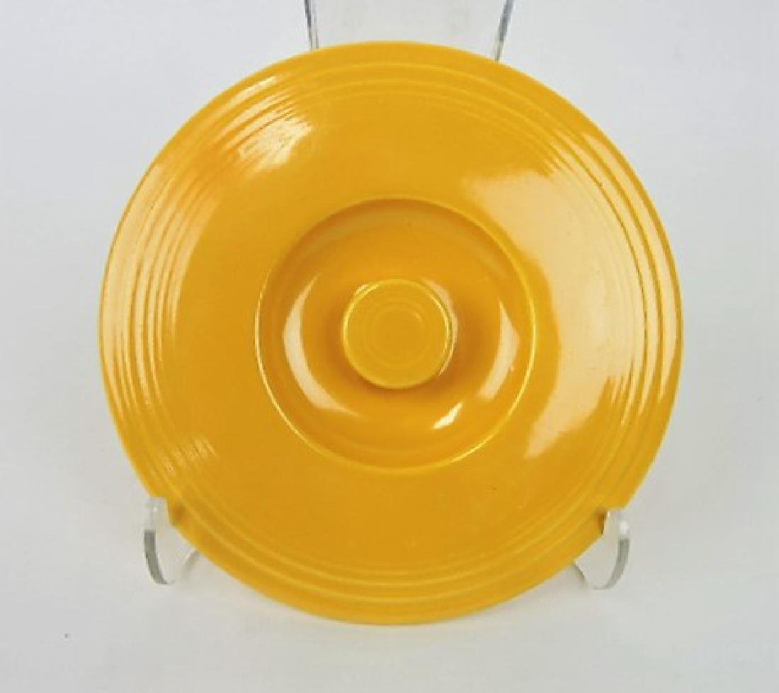 Fiesta #2 mixing bowl lid,  yellow, minor