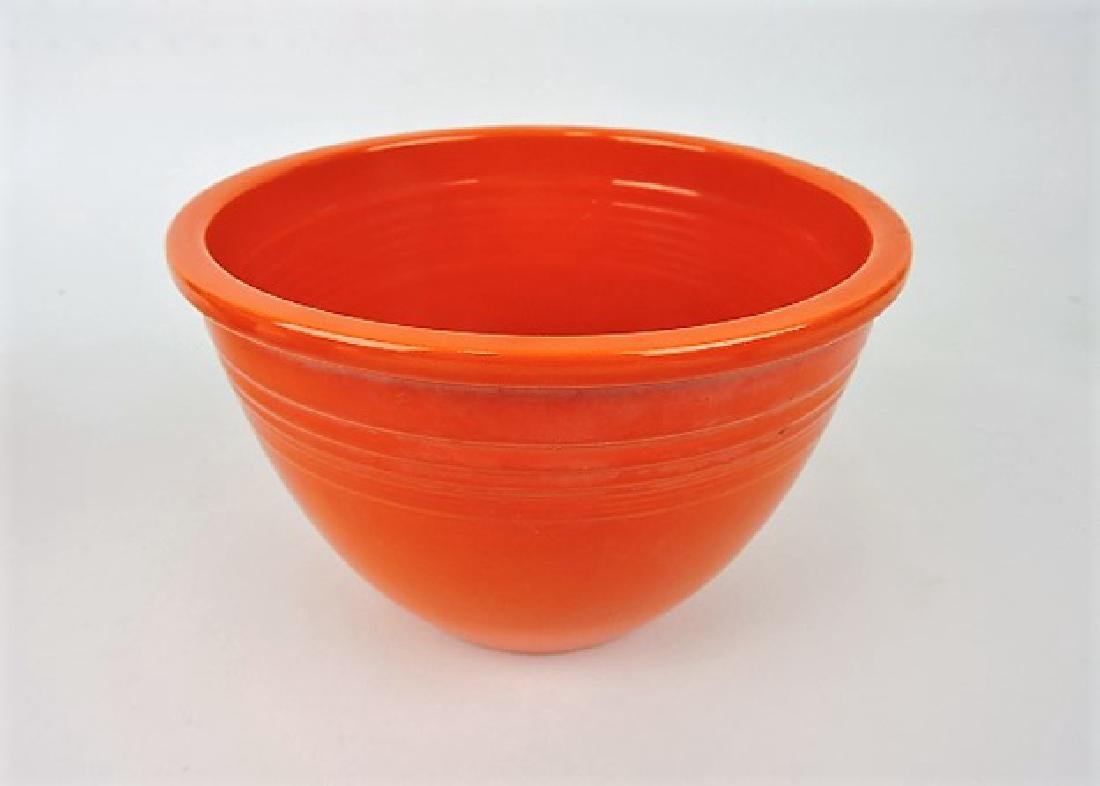 Fiesta mixing bowl, #4, red, inside rings
