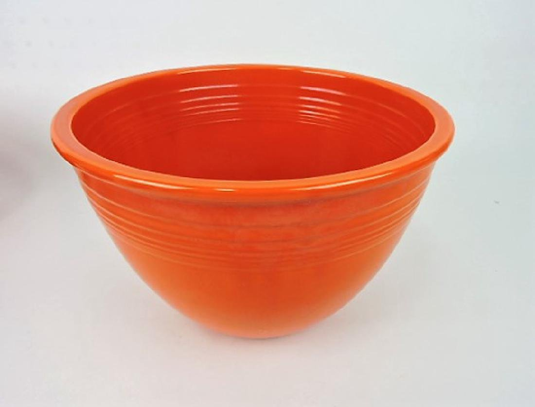 Fiesta mixing bowl, #6, red, inside rings,