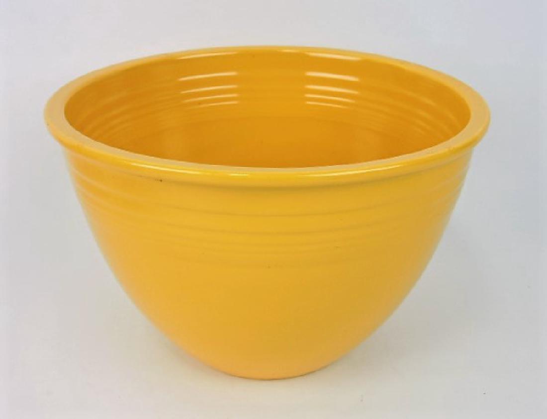 Fiesta mixing bowl, #6 yellow, inside rings