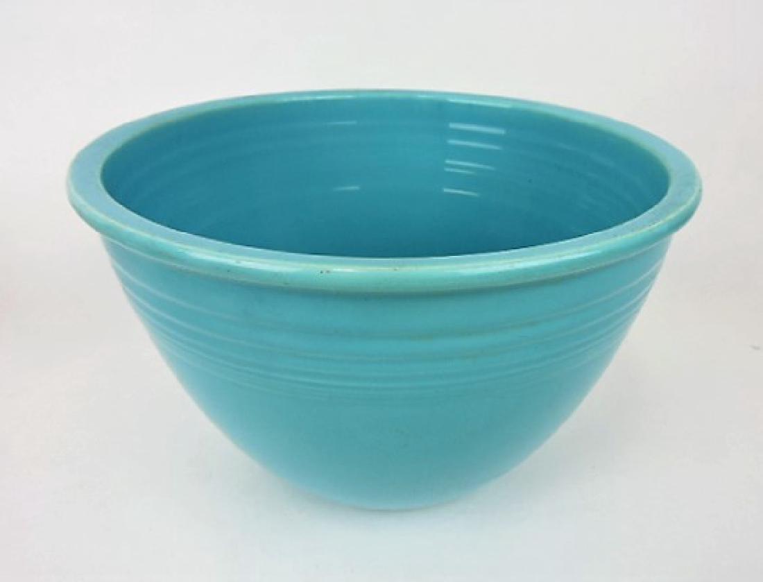 Fiesta mixing bowl, #6 turquoise, wear