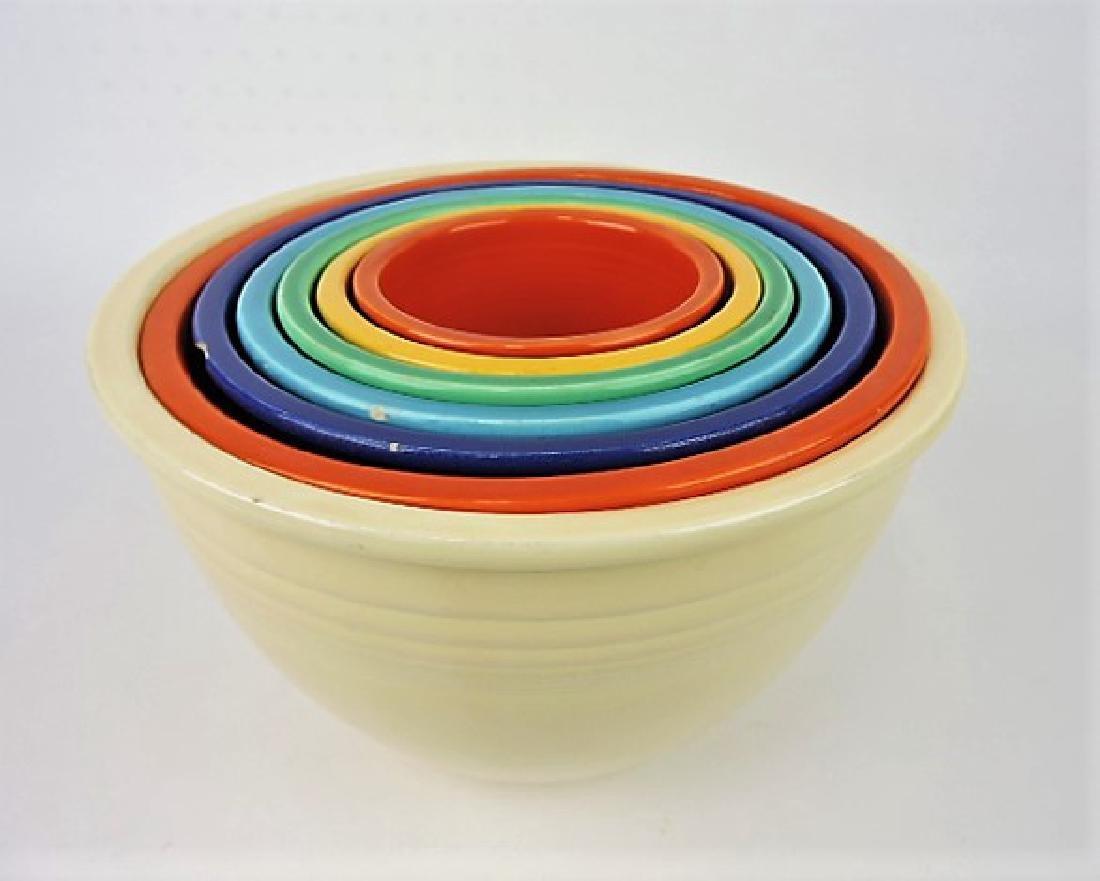 Fiesta mixing bowl set #1 to #7, mixed
