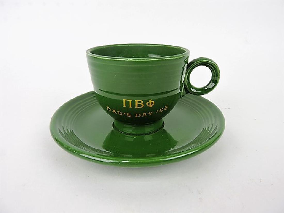 Fiesta dark green cup & saucer with