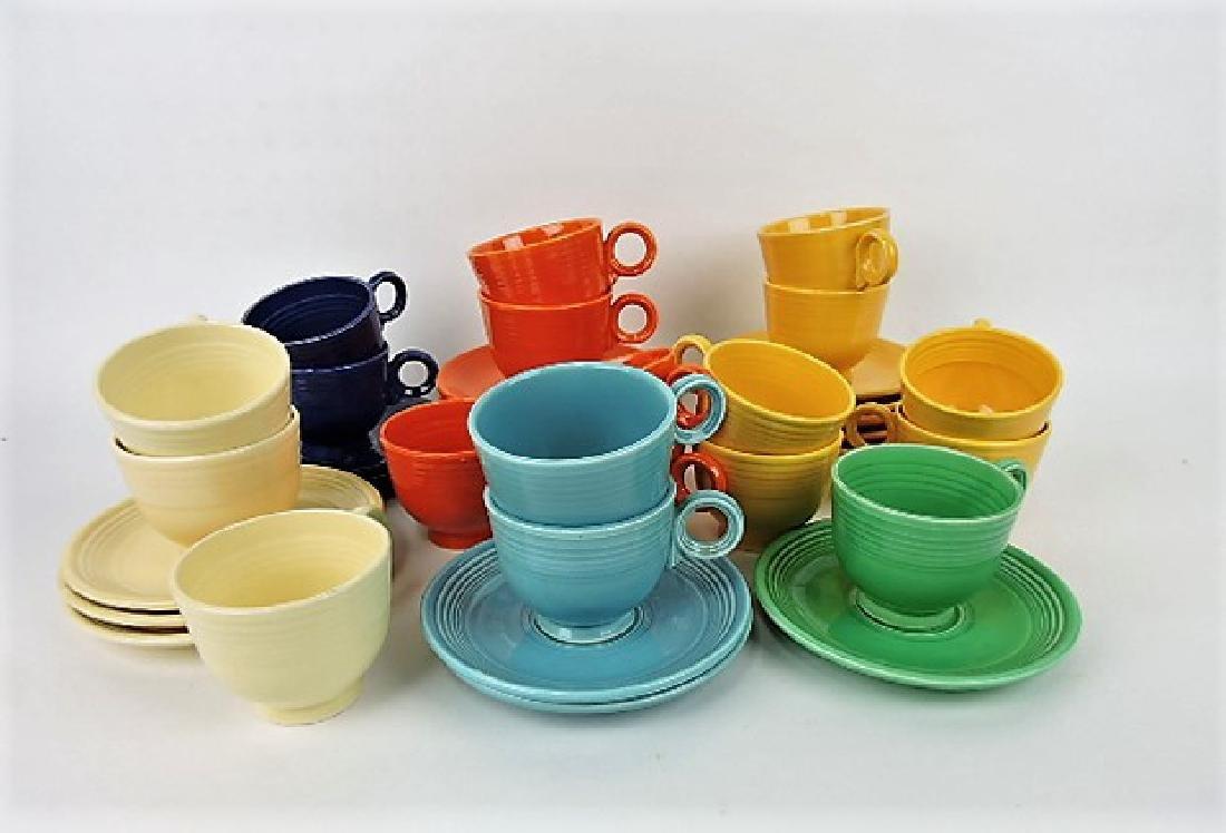 Fiesta cup & saucer group, 19 mixed original