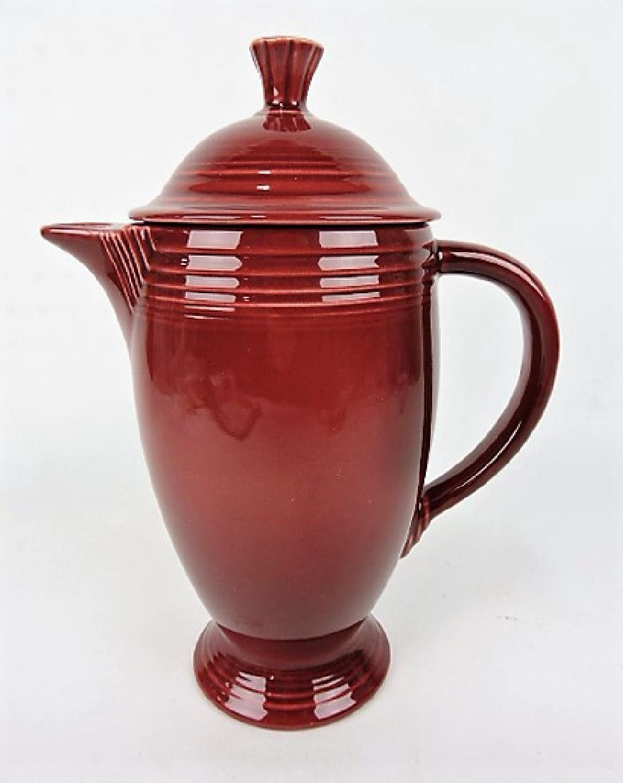 RARE Fiesta coffee pot, maroon, only one