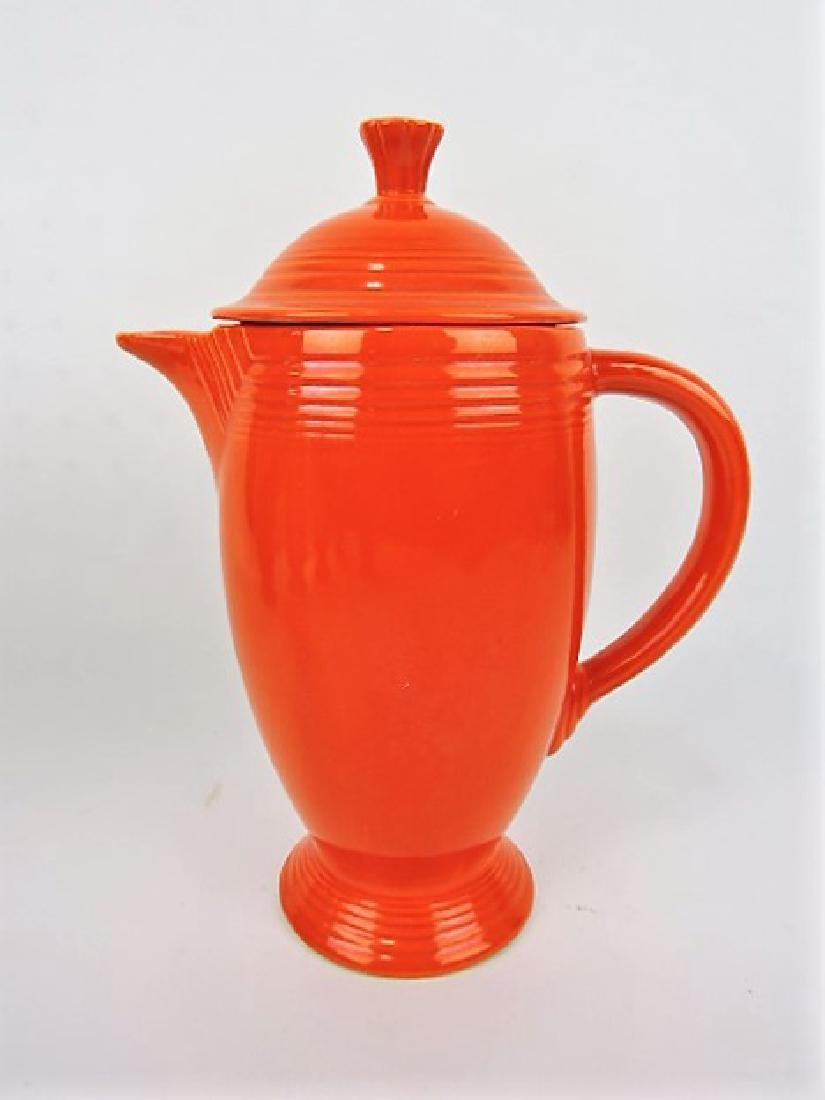 Fiesta coffee pot, red