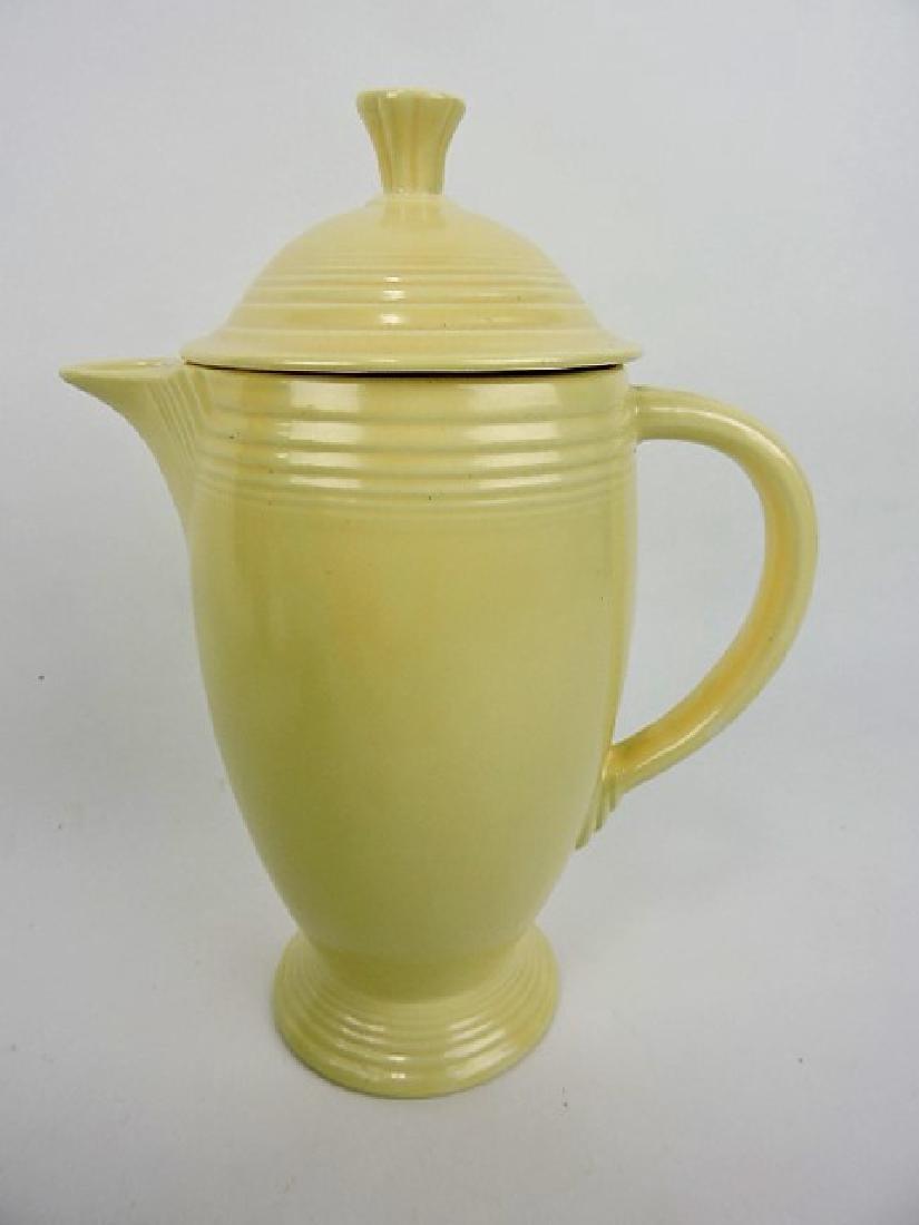 Fiesta coffee pot, ivory