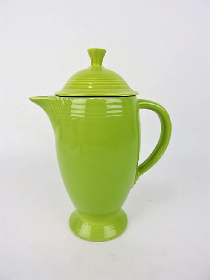 Fiesta coffee pot, chartreuse, nicks to