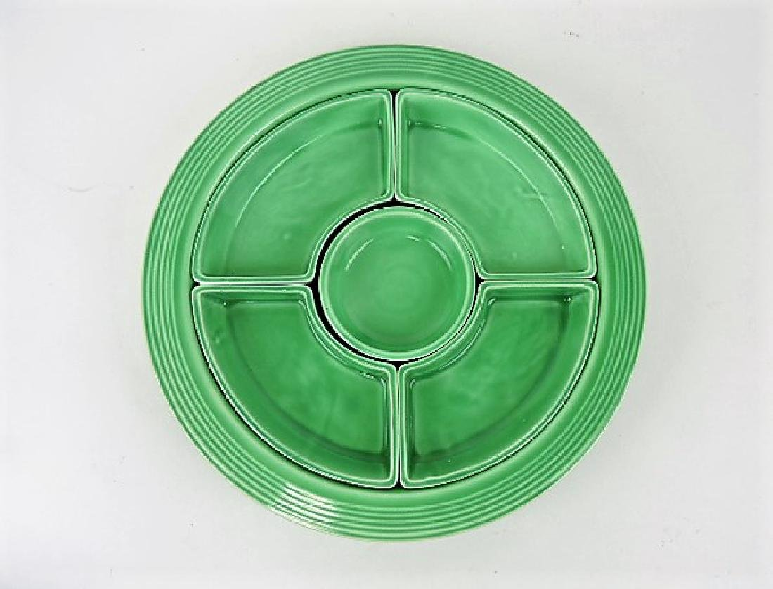 Fiesta relish tray, all green
