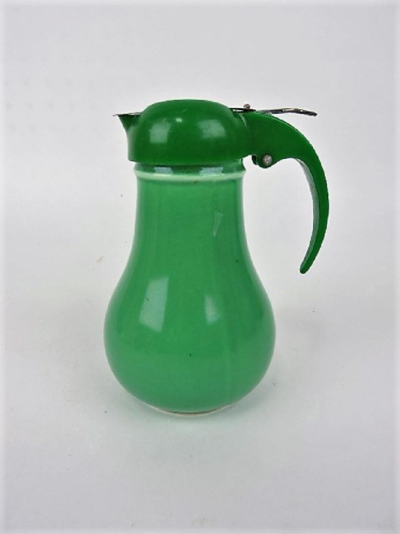 Fiesta syrup pitcher, green