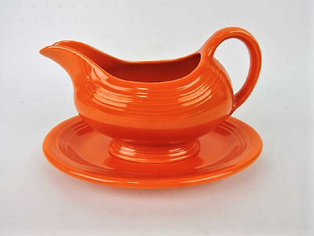 Fiesta red sauce boat with red ironstone - 2
