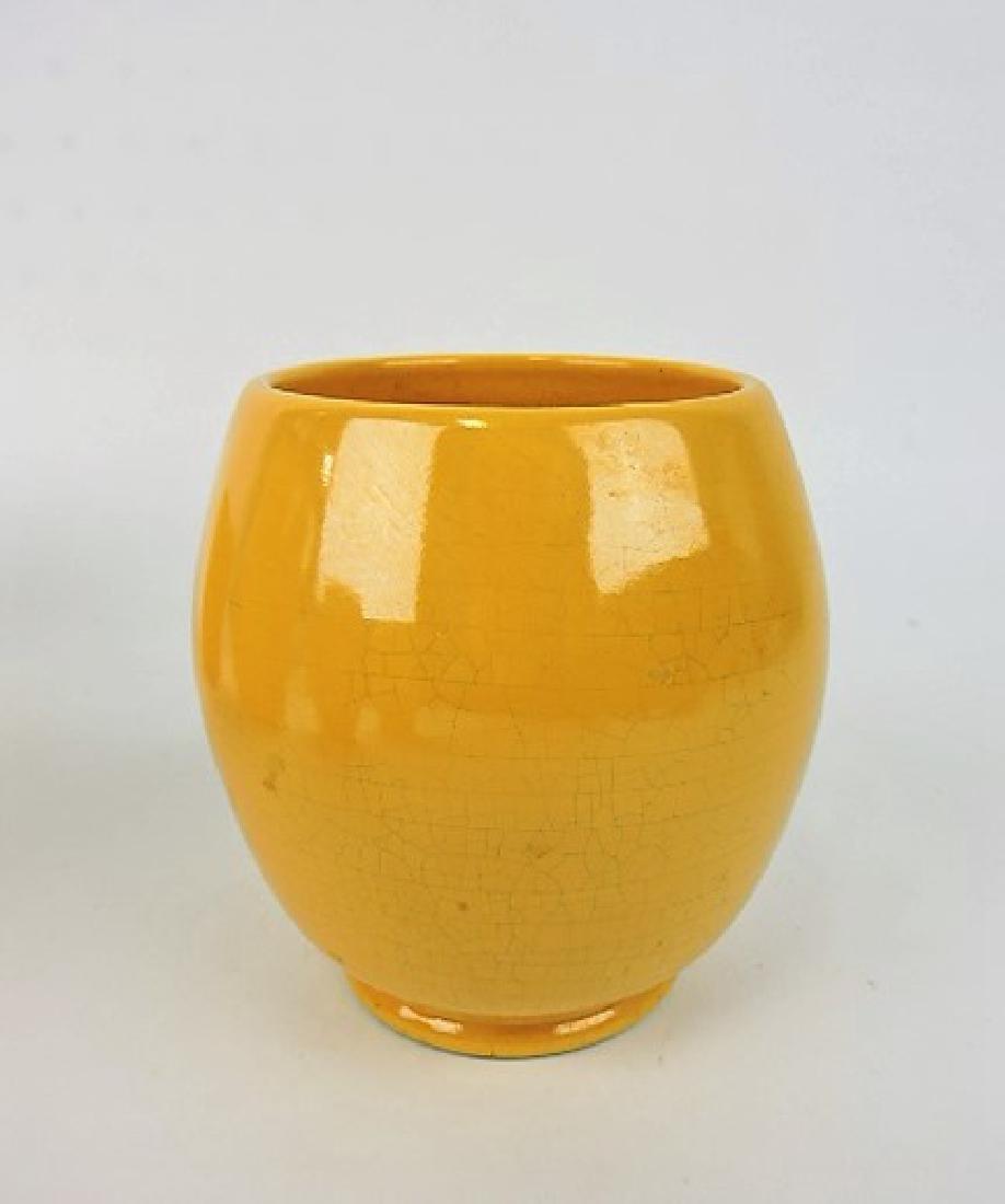 """FIesta yellow World's Fair vase, 4 1/2"""","""