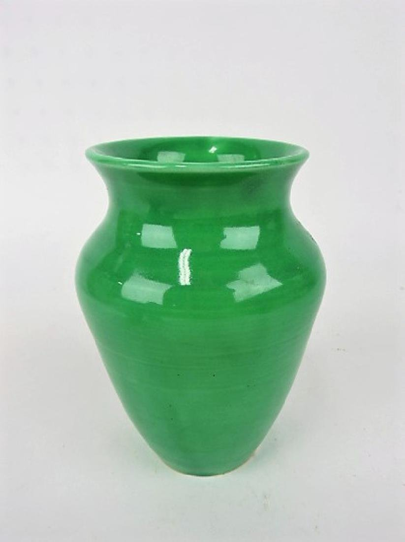 "FIesta green World's Fair vase, 6"","