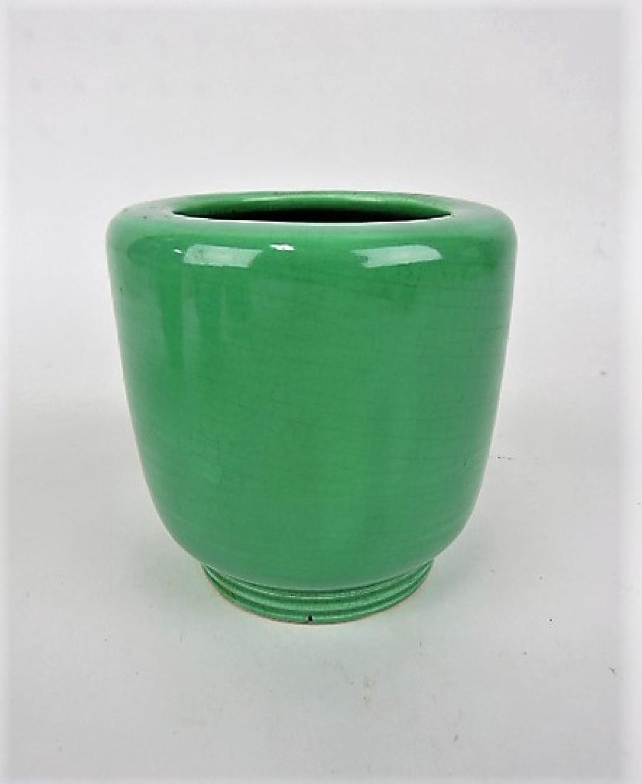 "FIesta green World's Fair vase, 4 1/2"","