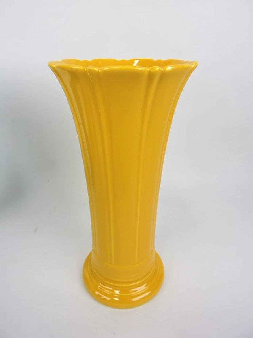 "Fiesta 12"" flower vase, yellow"