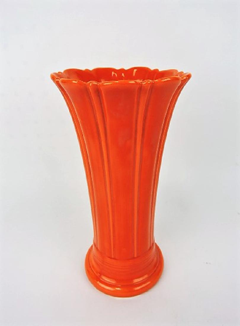 "Fiesta 10"" flower vase, red"