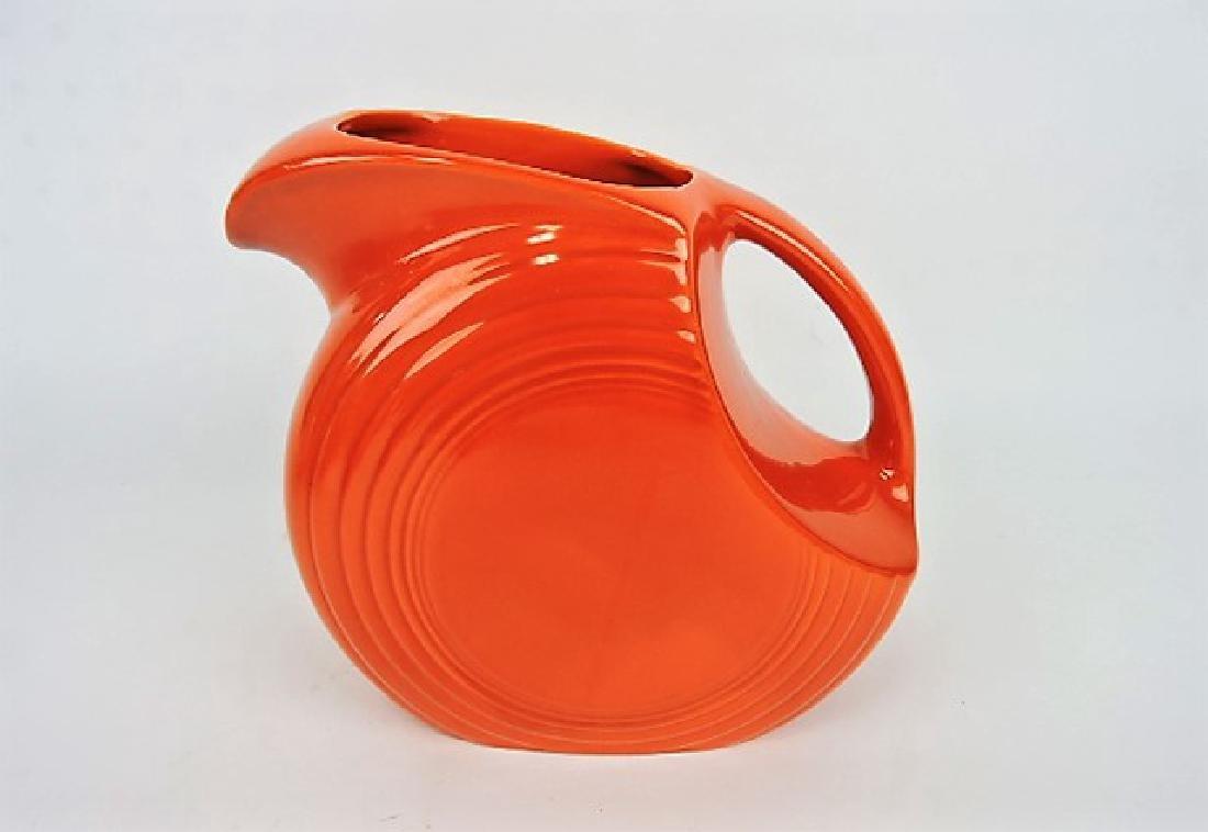 Fiesta disk water pitcher, red