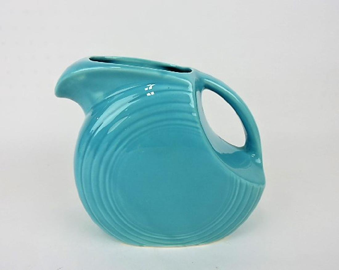 Fiesta disk water pitcher, turquoise
