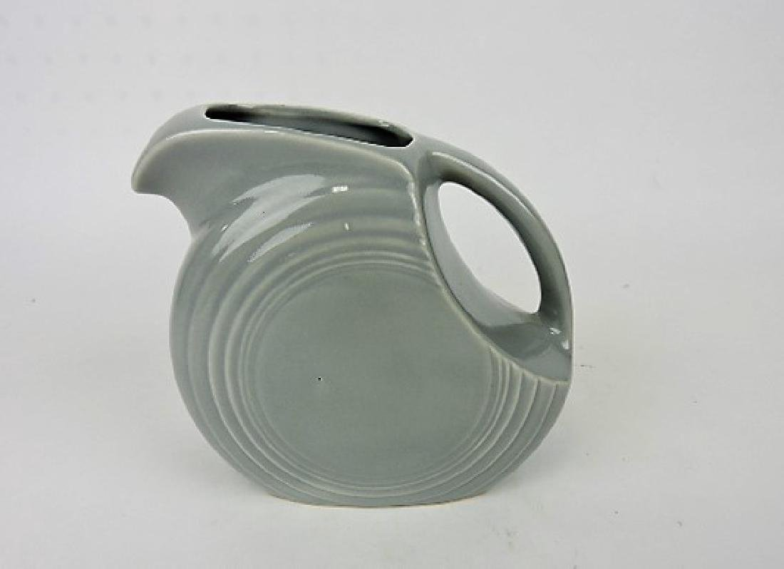 RARE Fiesta gray disk juice pitcher, very