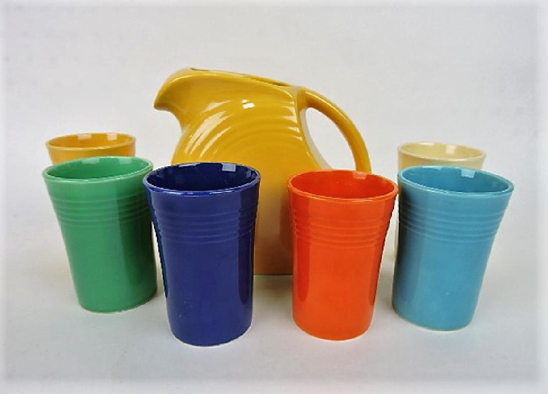 Fiesta 7 piece juice set with yellow disk
