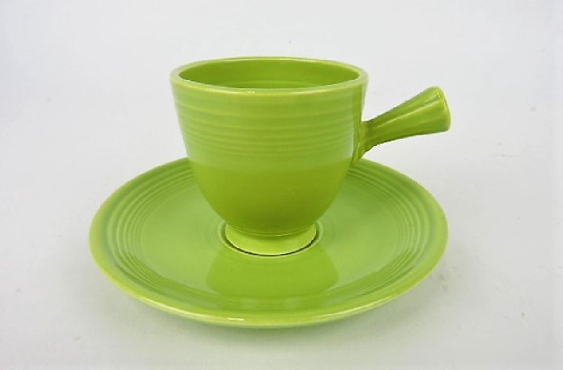 Fiesta demitasse cup & saucer, chartreuse