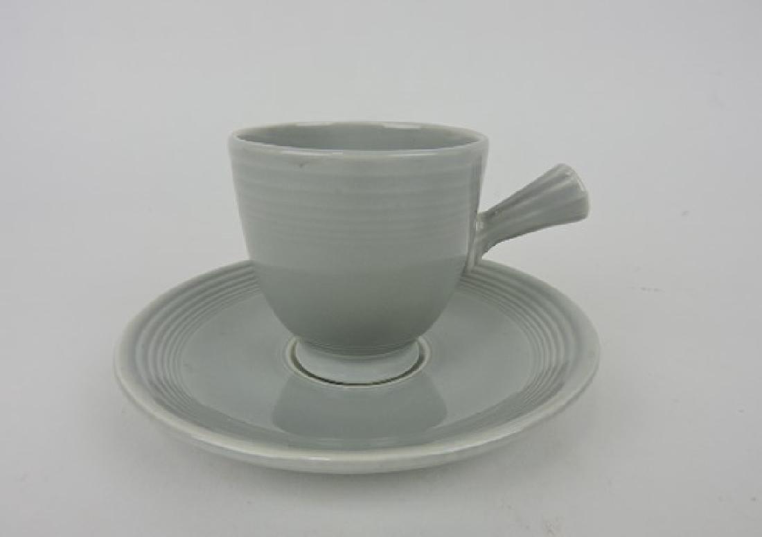 Fiesta demitasse cup & saucer, gray