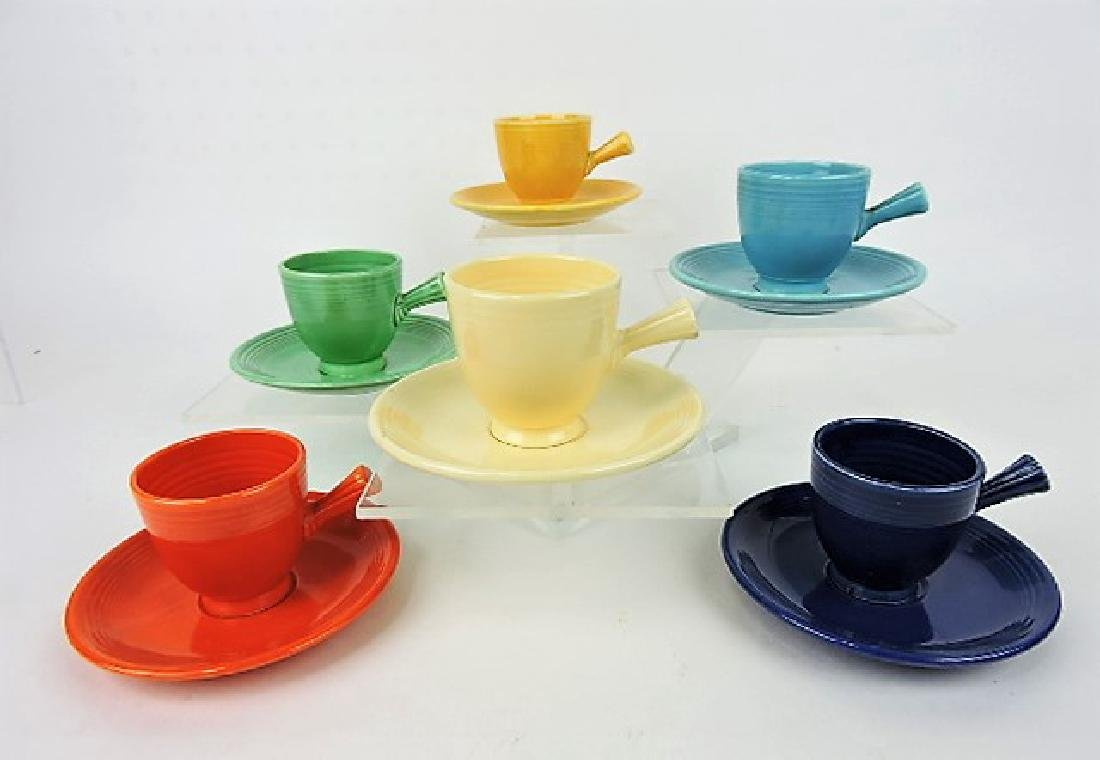 Fiesta demitasse cup & saucer group: all 6