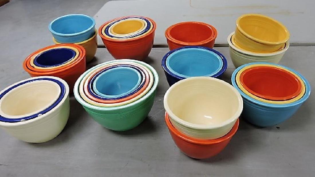 Fiesta lot of 31 mixing bowls, various