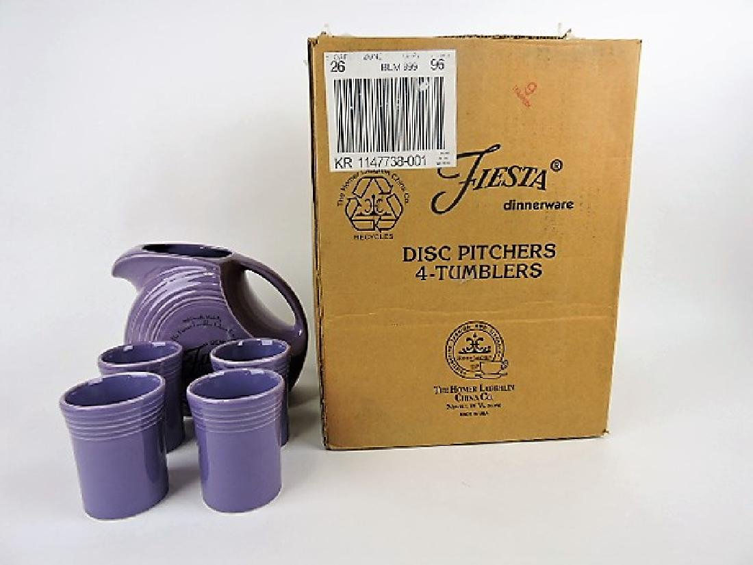 Fiesta Post 86 lilac 5 pc beverage set, 60th