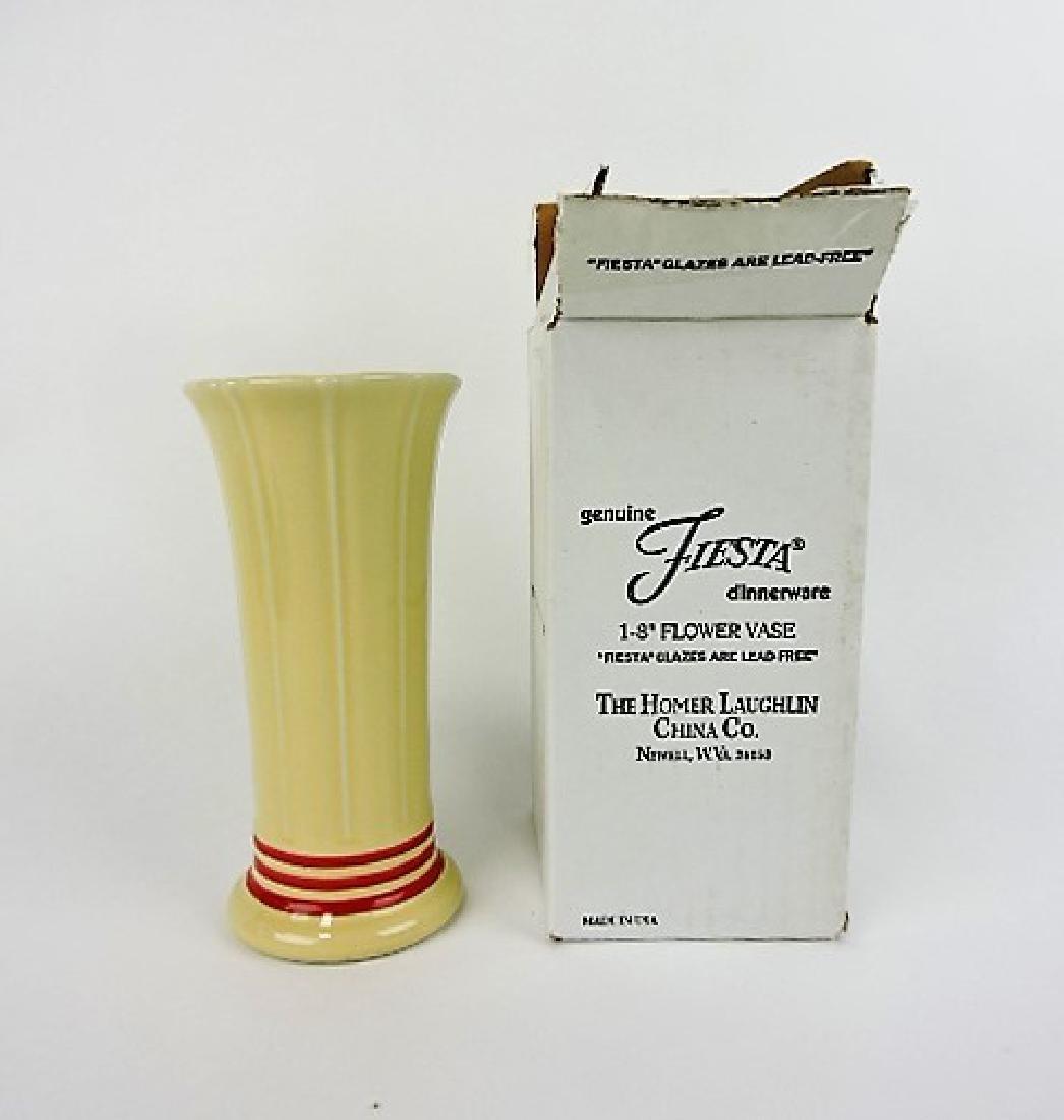 "Fiesta Post 86 red stripe 8"" vase, NIB,"