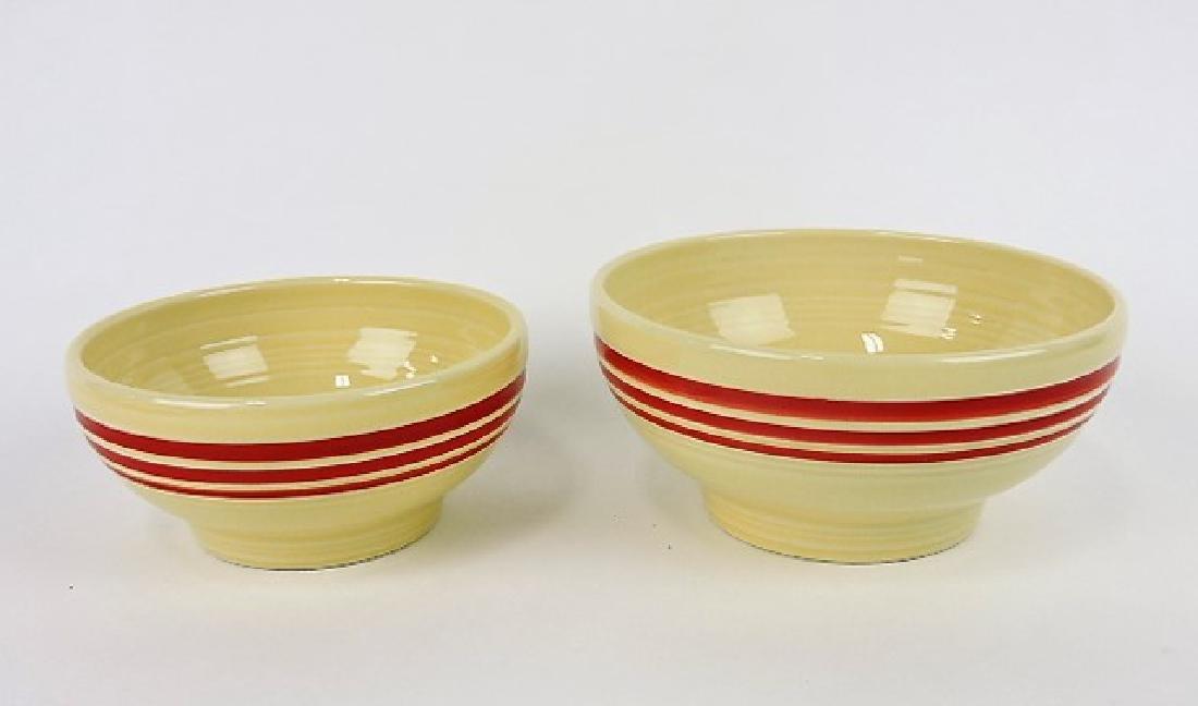 Fiesta Post 86 red stripe lot of 2 bowls,