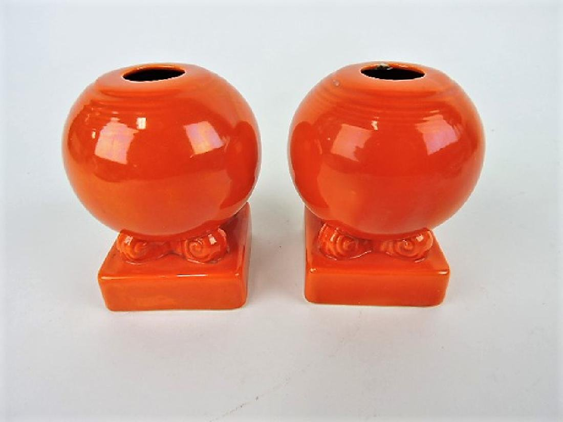 Fiesta bulb candle holder, pair, red,