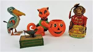 Vintage toy lot of 4 J Chein tin